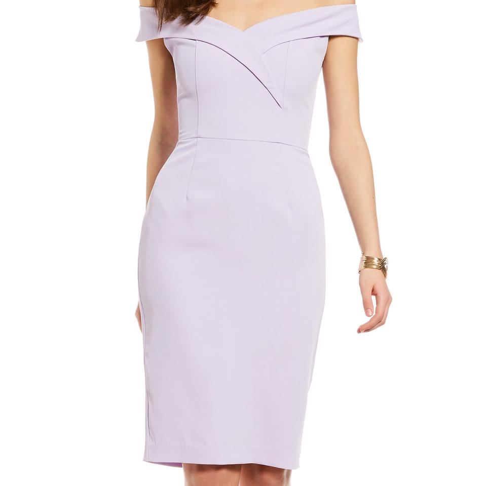 178905f1aa8c8 Gianni Bini Lavender Lori Off Shoulder Mid-length Night Out Dress ...