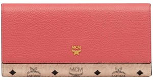 MCM tri fold Flap leather wallet