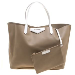 c603bdb0a5 Givenchy Large Antigona Shopping Beige Leather Tote - Tradesy