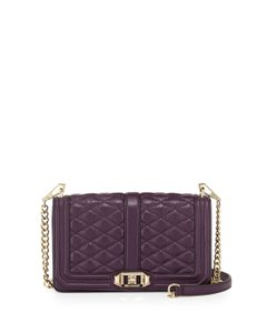 Rebecca Minkoff Love Quilted Messenger Leather Cross Body Bag