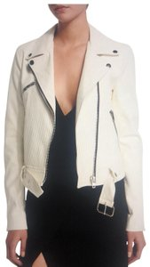 Kendall + Kylie white Leather Jacket
