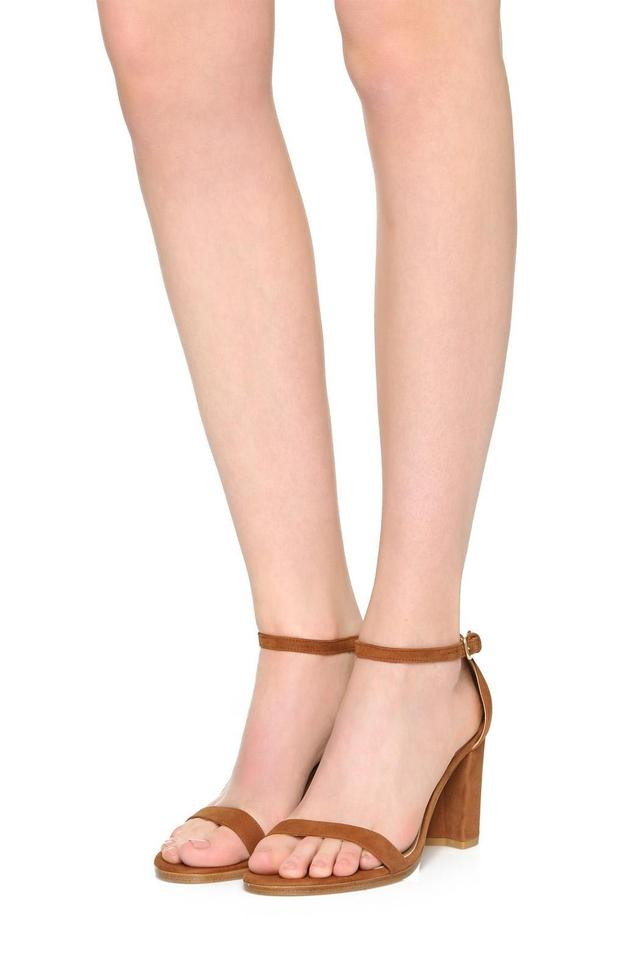 a2b6842378b Stuart Weitzman New Kate Middleton Nearlynude Nearly Nude Nudist Saddle  Sandals Image 0 ...