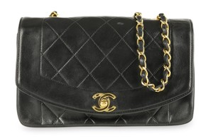 Chanel Lambskin Leather Diana Shoulder Bag