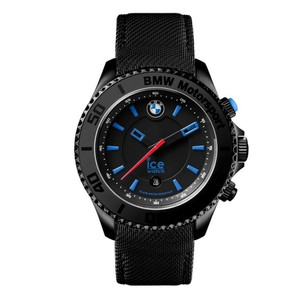 Ice BMW Motorsport 43 mm Black Dial Black Leather Men's Watch