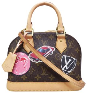Louis Vuitton Alma Bb World Tour Satchel in monogram