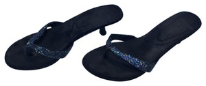 Rocket Dog black with blue/multi colored beading Sandals
