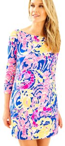 Lilly Pulitzer short dress Brilliant Blue Catch and Release on Tradesy