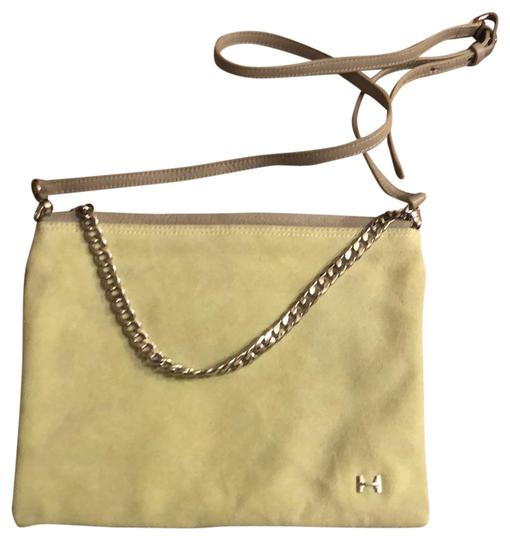 Preload https://img-static.tradesy.com/item/23234229/halston-clutch-versatile-purse-that-can-be-worn-as-a-or-light-grey-and-light-lime-green-leather-sued-0-1-540-540.jpg