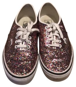 Vans pink with color sparkles Athletic