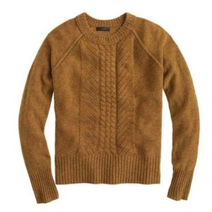 J.Crew Cable Pointelle Wool Sweater