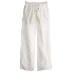 J.Crew Gauze Cotton Casual Relaxed Pants White