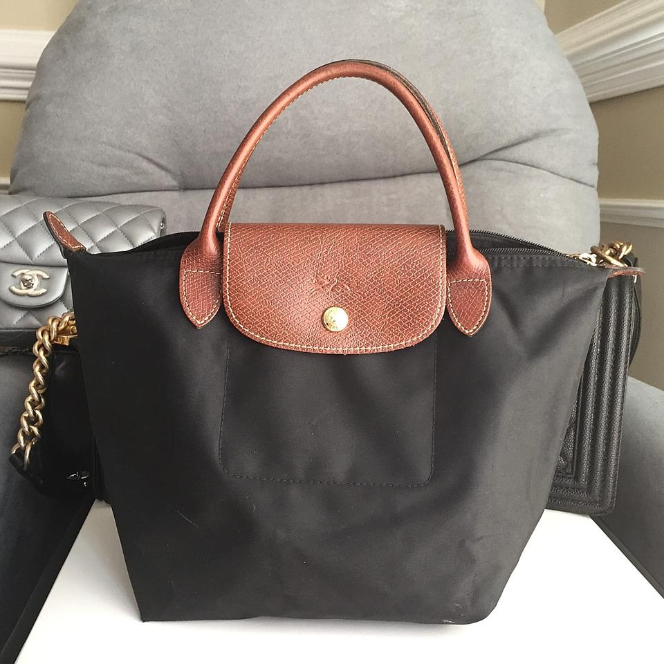 9005b7d5100 Longchamp  small Le Pliage  In Black Nylon Tote - Tradesy