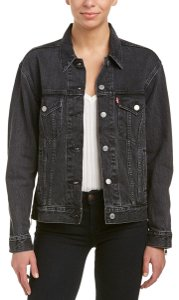 Levi's Washed Black Womens Jean Jacket
