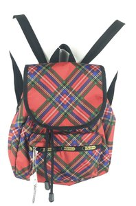 LeSportsac Plaid Red Holiday Backpack