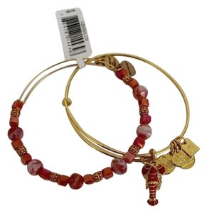 Alex and Ani Alex and Ani Clear Infusion Lobster Charm Bracelet Bead Bangle Set