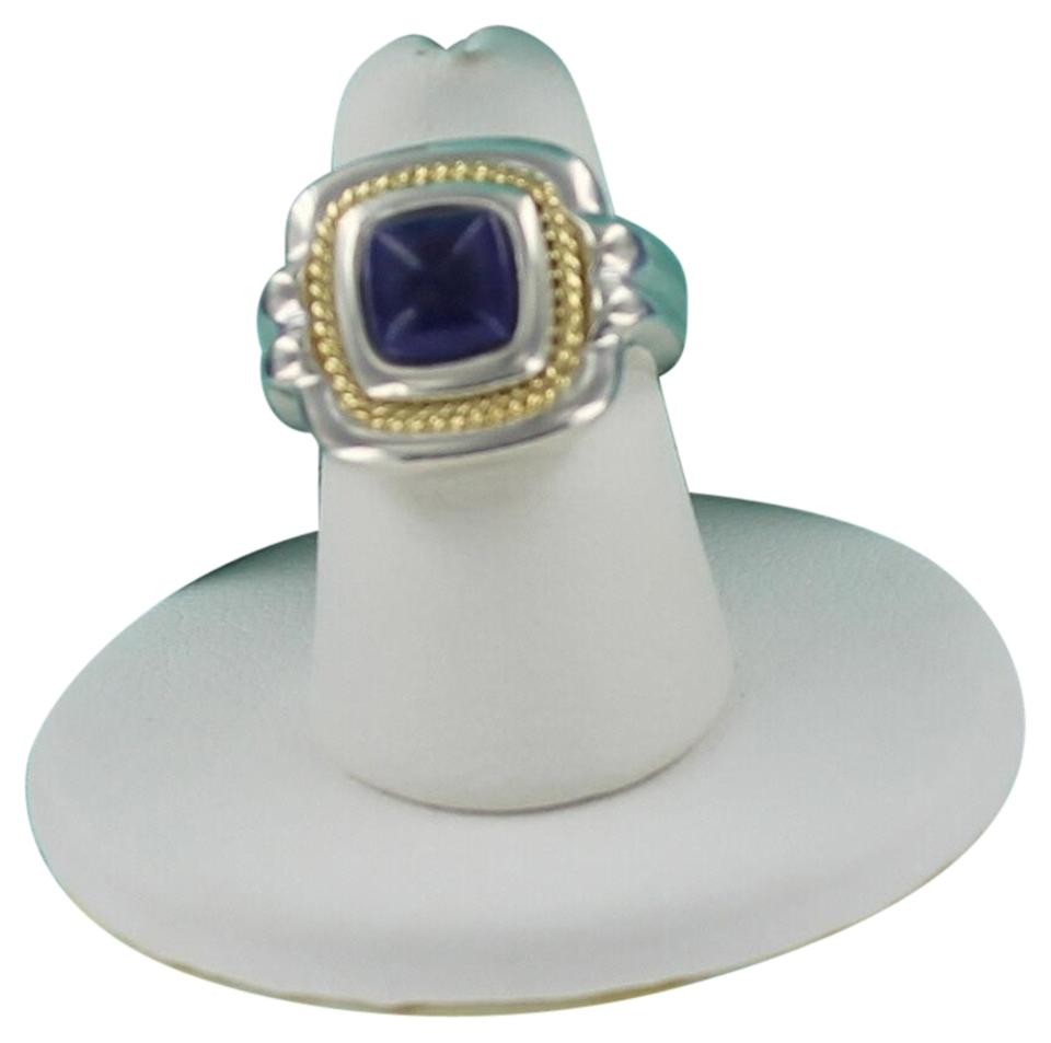 dbf30717e Tiffany & Co. Silver Gold and Blue Restored Co 18k Sterling Lapis Lazuli  Ring