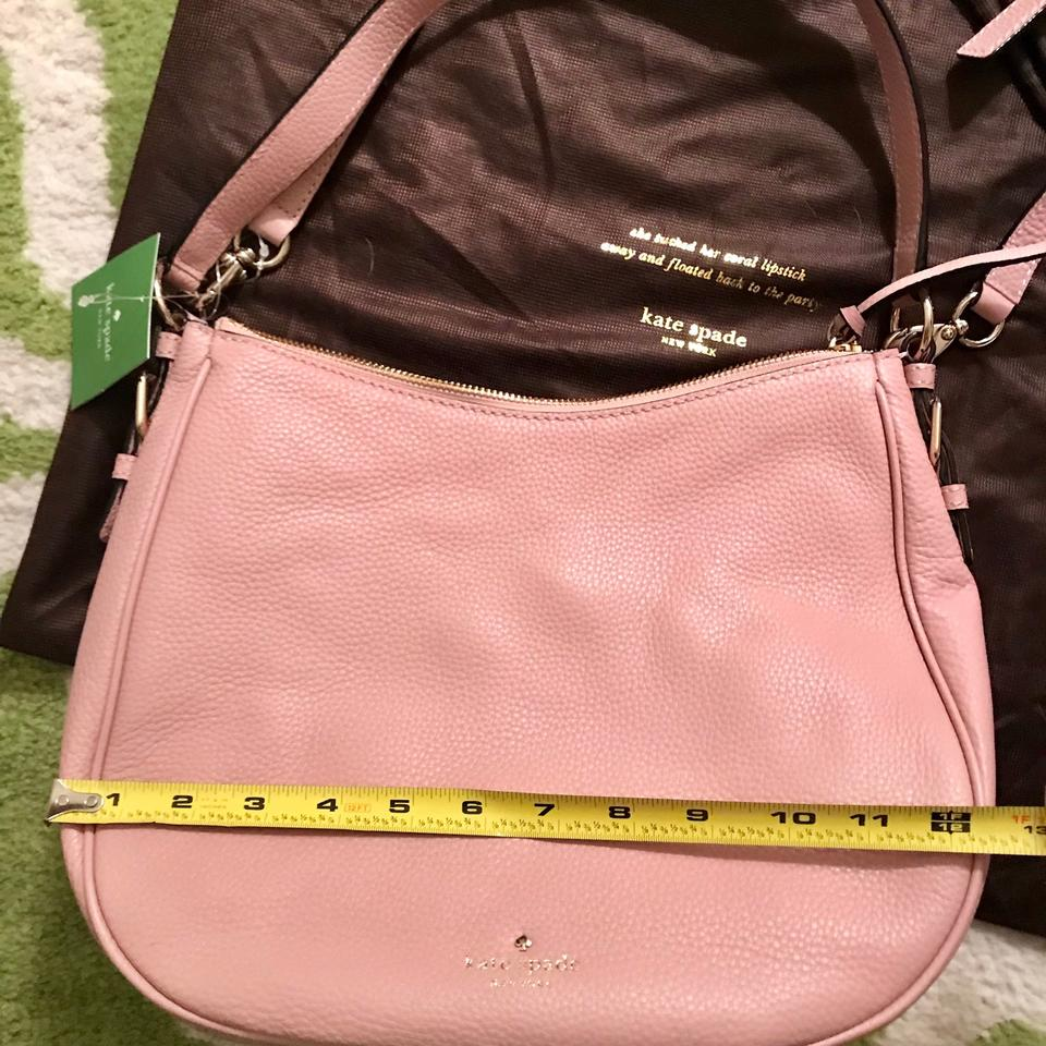 f3493d2056 Kate Spade Cobble Hill Mylie Pink Granite Pebbled Leather Hobo Bag ...