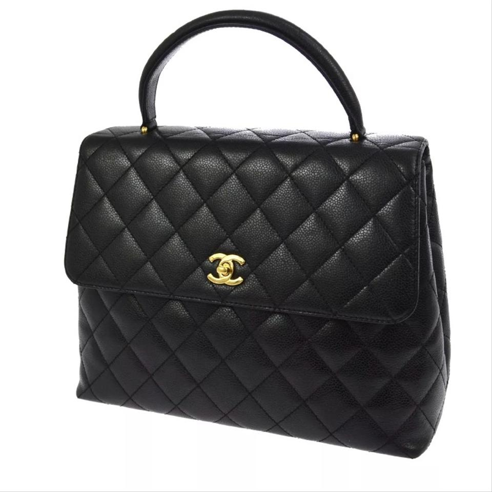 6d031ad216a0 Chanel Timeless 24k Gold Cc Kelly Black Caviar Leather Tote - Tradesy