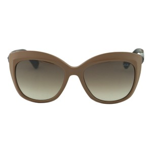 Lanvin New SLN632 Women Brown Butterfly Wooden Details Sunglasses 55mm