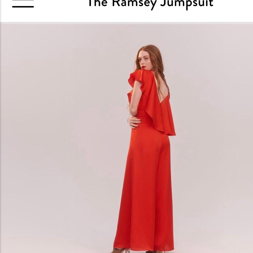 Fame And Partners Red Romperjumpsuit Tradesy