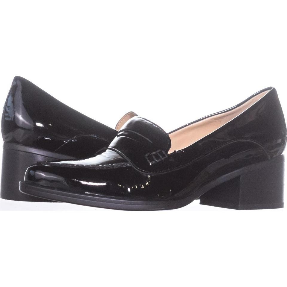 ef17e9884f1 Naturalizer Black Dinah Loafer Pumps 262 Patent W Platforms Size US 7.5 Wide  (C