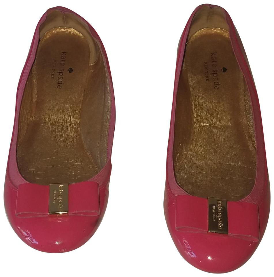 Kate Spade Pink New York Women s Tock Patent Leather Bow Ballet Flats efd9e55cf6