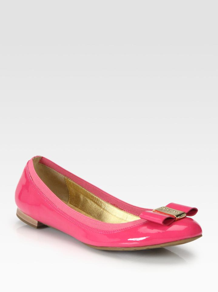 956c38fe8fcf Kate Spade Pink New York Women s Tock Patent Leather Bow Ballet ...