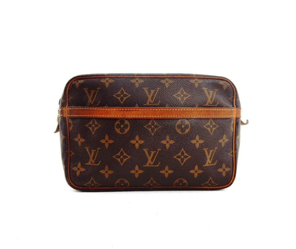 Louis Vuitton Vintage Compiegne 23 Monogram Canvas Leather Makeup Travel  Dopp Bag Image 0 ... fa30b5df84dfc