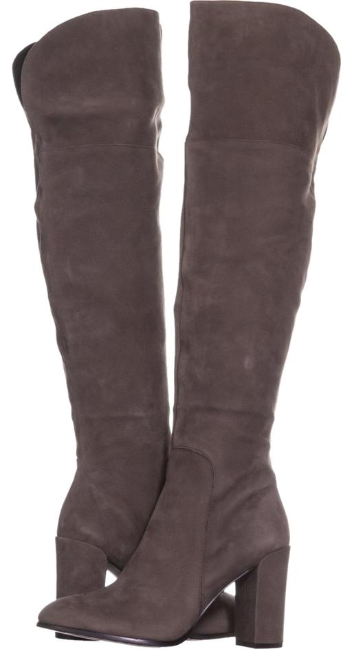 0e29b0f925e Kenneth Cole Grey New York Jack Over The Knee Block 725 Cement Boots ...
