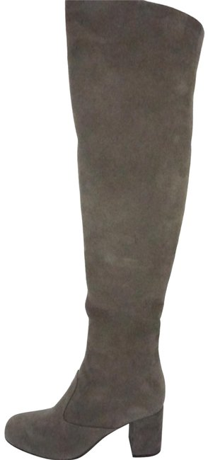 Item - Gray Suede Babies Over The Knee Thigh High Top Boots/Booties Size EU 35 (Approx. US 5) Regular (M, B)