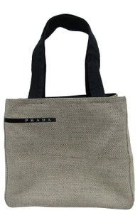 Prada Canapa Canvas Mini Tote in Gray