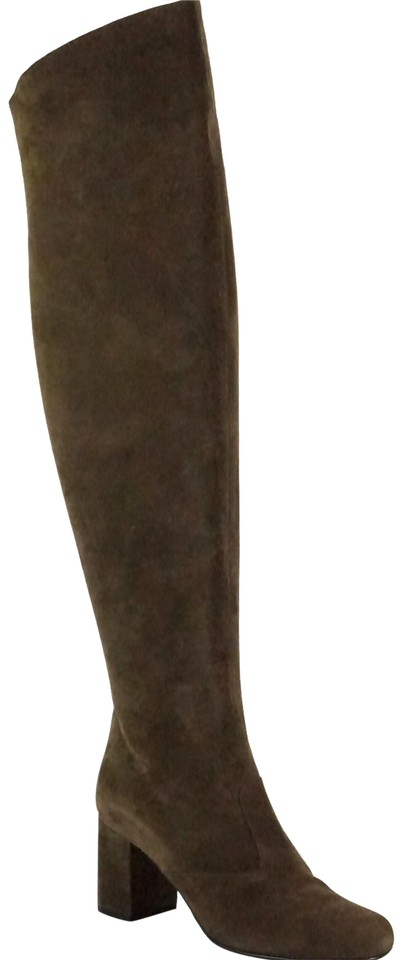 47f9987f041 Saint Laurent Brown Suede Babies Over The Knee Tall Thigh High  Boots/Booties Size EU 37 (Approx. US 7) Regular (M, B) 67% off retail