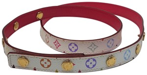 Louis Vuitton White multicolor coated canvas Louis Vuitton multicolore belt