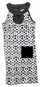 Ann Taylor LOFT Beaded Print Keyhole Dress