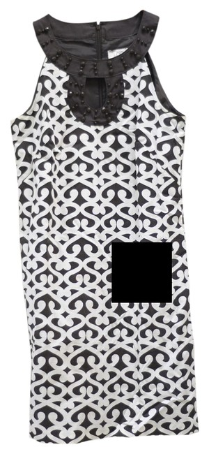 Preload https://item2.tradesy.com/images/ann-taylor-loft-brown-and-white-keyhole-short-cocktail-dress-size-4-s-2323571-0-1.jpg?width=400&height=650