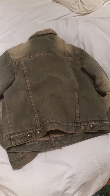 7 For All Mankind Stone Washed Denim Womens Jean Jacket