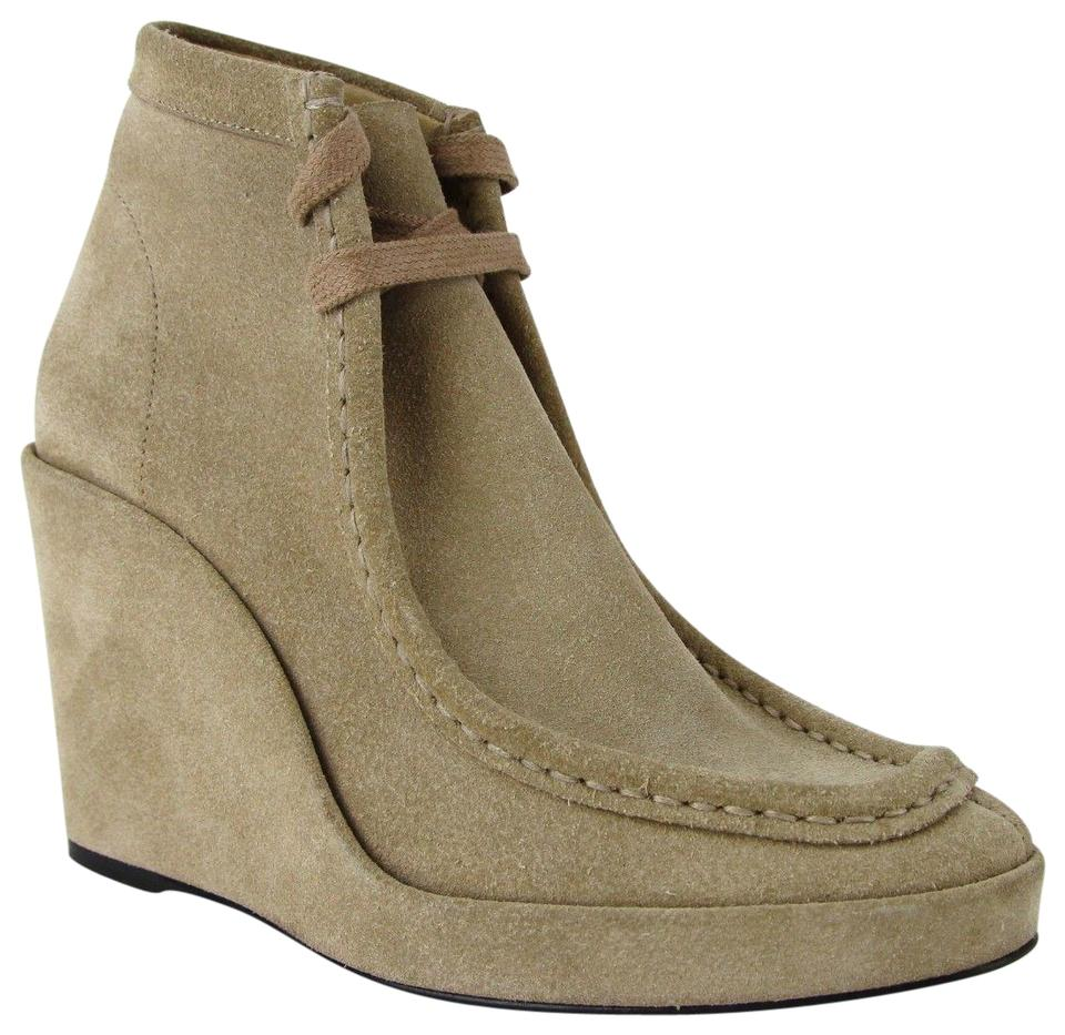 83c7fd457 Balenciaga Beige Women Suede Leather Halfboots Wedges 391080 2602 Boots/ Booties