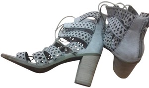 Steve Madden Gladiators Ghillies Lace-up Grey Sandals