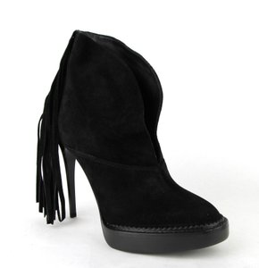 Burberry Women Suede Runway Black Boots