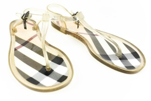 Burberry Nova Check Logo Transparent Sandals