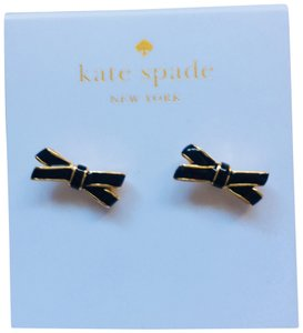 Kate Spade Kate spade black and gold bow stud earrings new