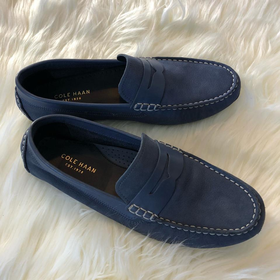 c61f4d57c3f Cole Haan Washed Indigo Rodeo Penny Driver Flats Size US 6 Regular ...