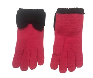 Kate Spade Kate Spade Colorblock Bow Touch Gloves Black Pink