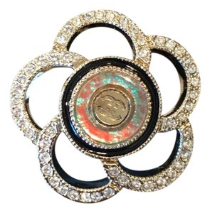Chanel crystal camelia ring size 5
