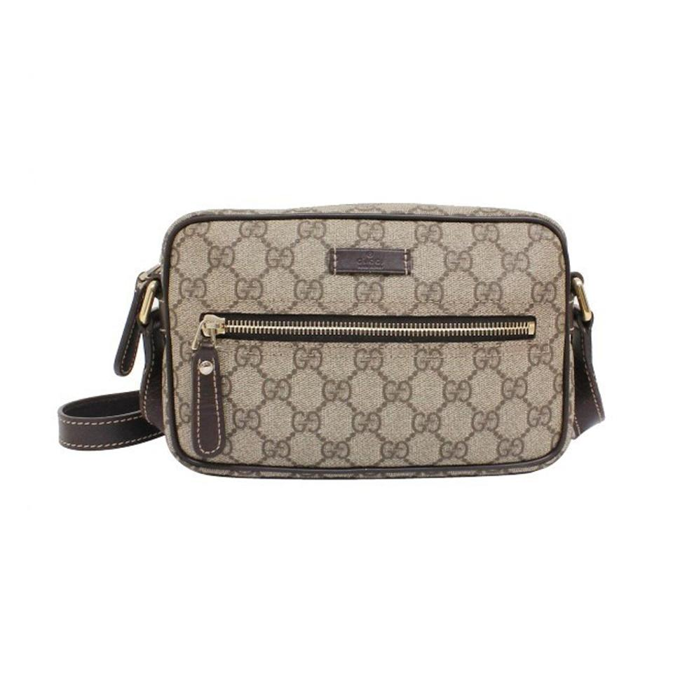7ffbd9438 Gucci Shoulder Supreme Gg Small 201447 Beige Canvas/Leather Cross ...