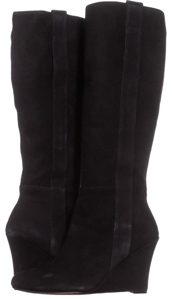 Nine West Black Wedge Oran Knee-high Wedge Black 316 Boots/Booties aadb8a