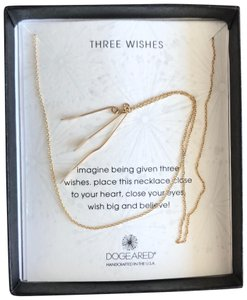 Dogeared three wishes necklace, gold dipped