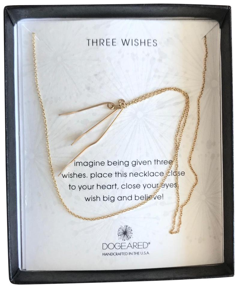 99540f0a6 Dogeared three wishes necklace, gold dipped Image 0 ...