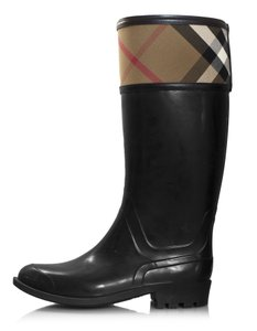 Burberry Rain Plaid Nova Check black Boots