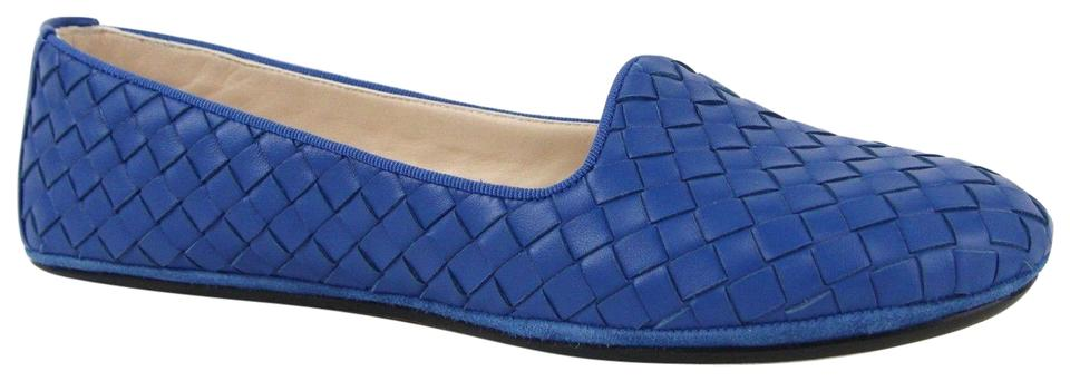 de8e9f3b3fa Bottega Veneta Royal Blue Intrecciato Leather Woven It 38.5 Us 8.5 338297  4321 Flats